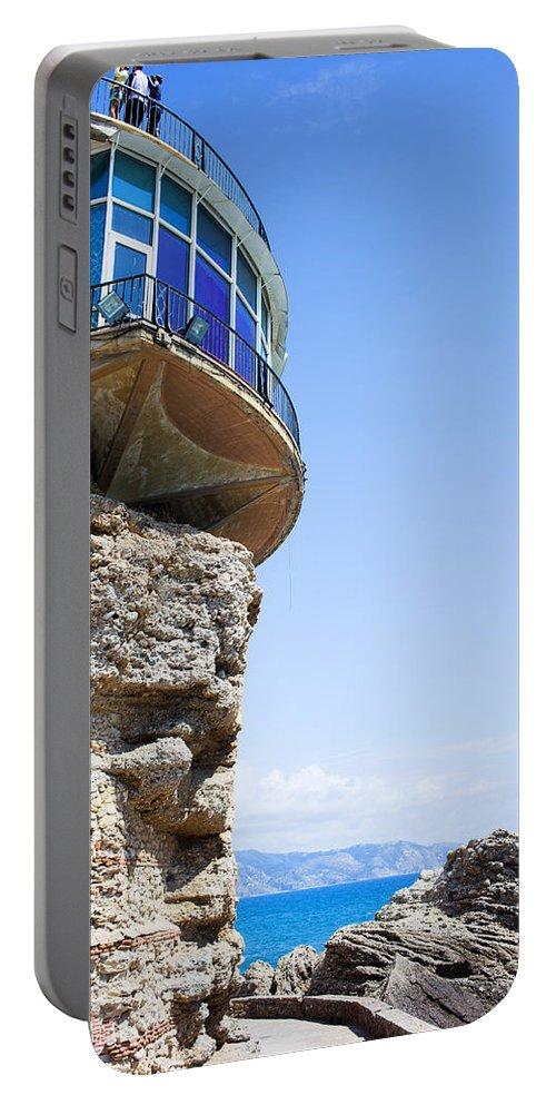 Costa Portable Battery Charger featuring the photograph Balcon De Europa In Nerja by Artur Bogacki