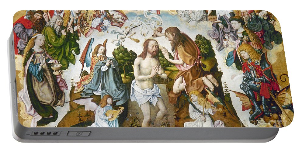 1485 Portable Battery Charger featuring the photograph Baptism Of Christ by Granger