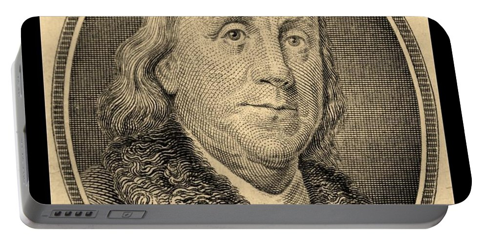Ben Franklin Portable Battery Charger featuring the photograph Ben Franklin In Sepia by Rob Hans
