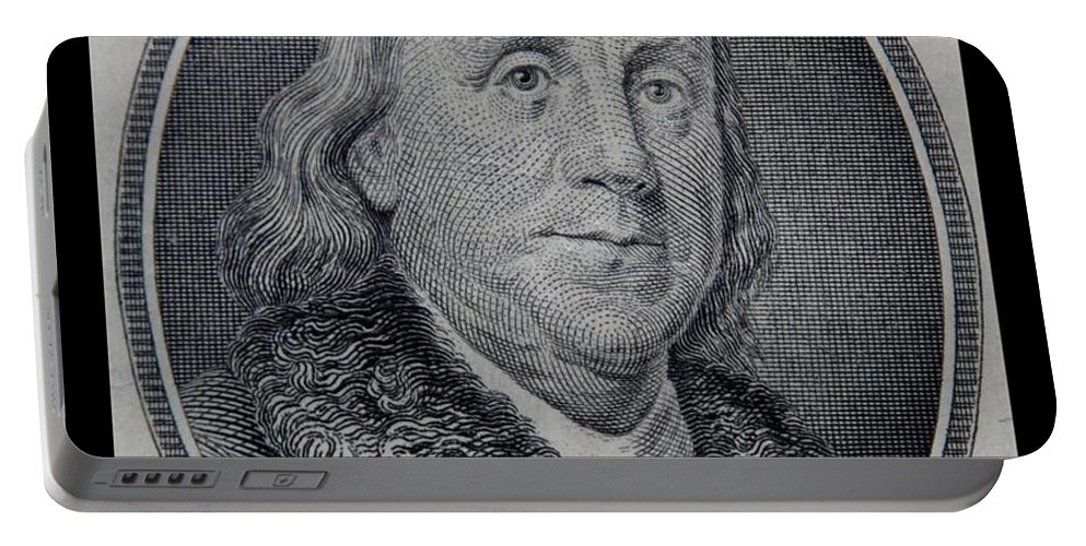 Ben Franklin Portable Battery Charger featuring the photograph Ben Franklin by Rob Hans