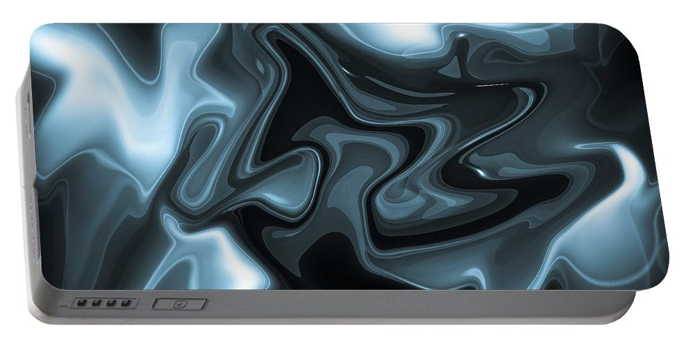 Digital Portable Battery Charger featuring the digital art Blue Abstract by David Pyatt