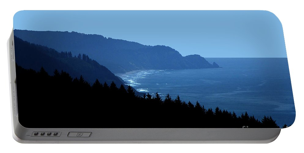 Blue Portable Battery Charger featuring the photograph Blue Ocean Vista by Mike Nellums