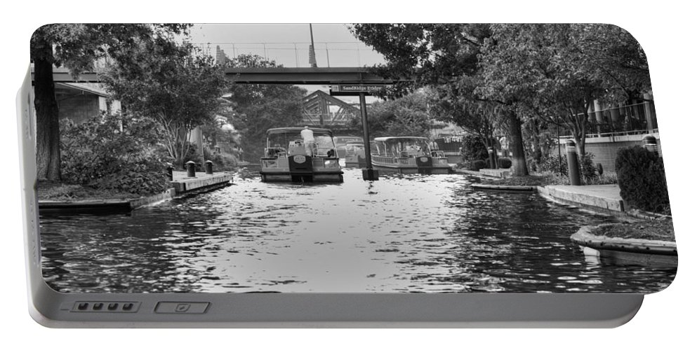 Bricktown Portable Battery Charger featuring the photograph Bricktown Canal by Ricky Barnard