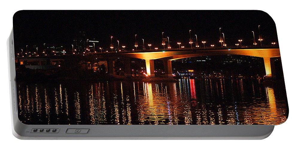 Vancouver Portable Battery Charger featuring the photograph Cambie Street Bridge by Randy Harris