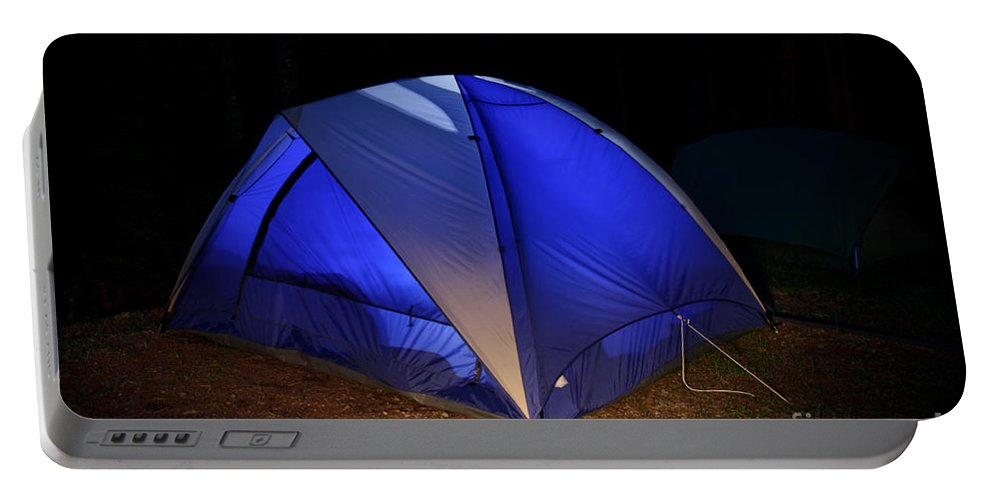 Tent Portable Battery Charger featuring the photograph Camping by Ted Kinsman