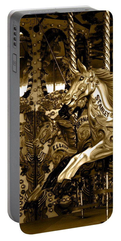 Carousel Portable Battery Charger featuring the photograph Carousel by Chris Day