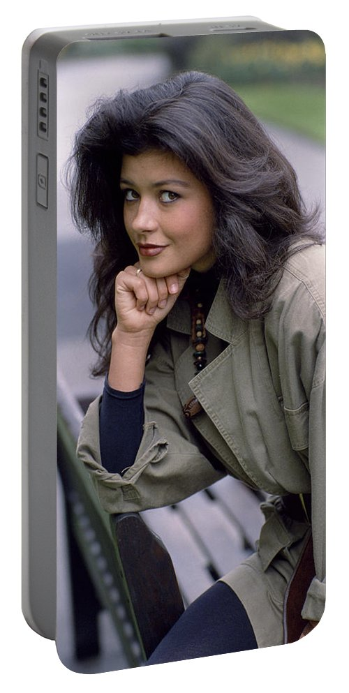 Catherine Zeta Jones Portable Battery Charger featuring the photograph Catherine Zeta-jones by Shaun Higson