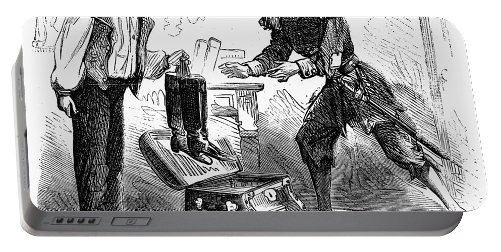 1863 Portable Battery Charger featuring the photograph Civil War Cartoon by Granger