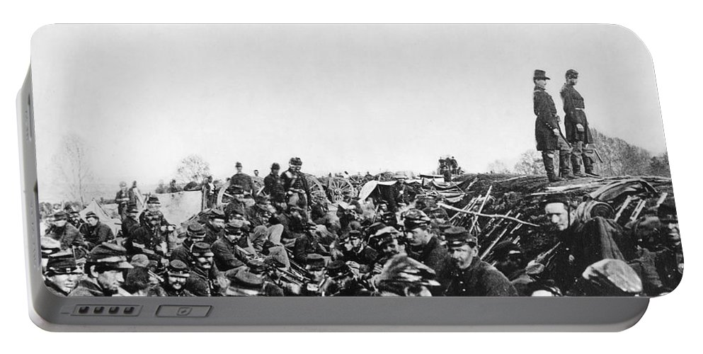 1864 Portable Battery Charger featuring the photograph Civil War: Petersburg, 1864 by Granger