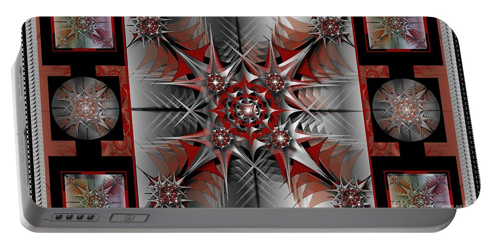 Abstract Portable Battery Charger featuring the digital art Collage by George Pasini
