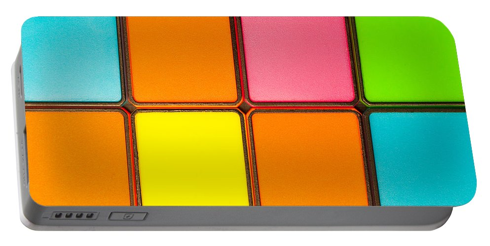 Abstract Portable Battery Charger featuring the photograph Colorful Background by Tom Gowanlock