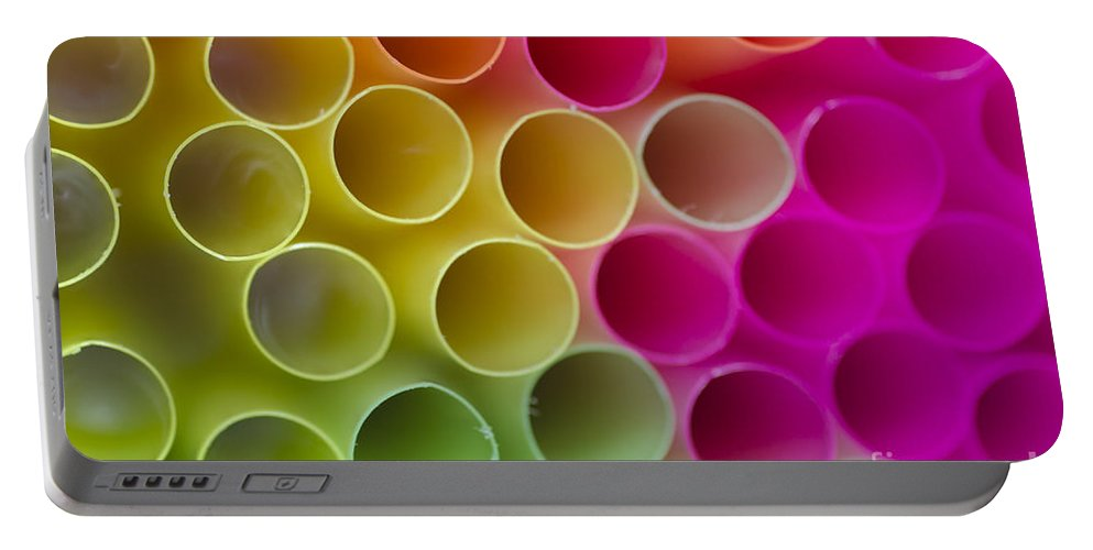 Straws Portable Battery Charger featuring the photograph Colorful Straws by Mats Silvan