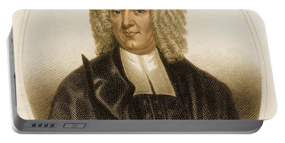 History Portable Battery Charger featuring the photograph Cotton Mather, American Minister by Science Source