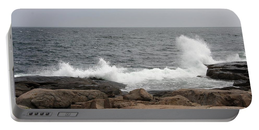 Waves Portable Battery Charger featuring the photograph Crashing Waves by Christiane Schulze Art And Photography