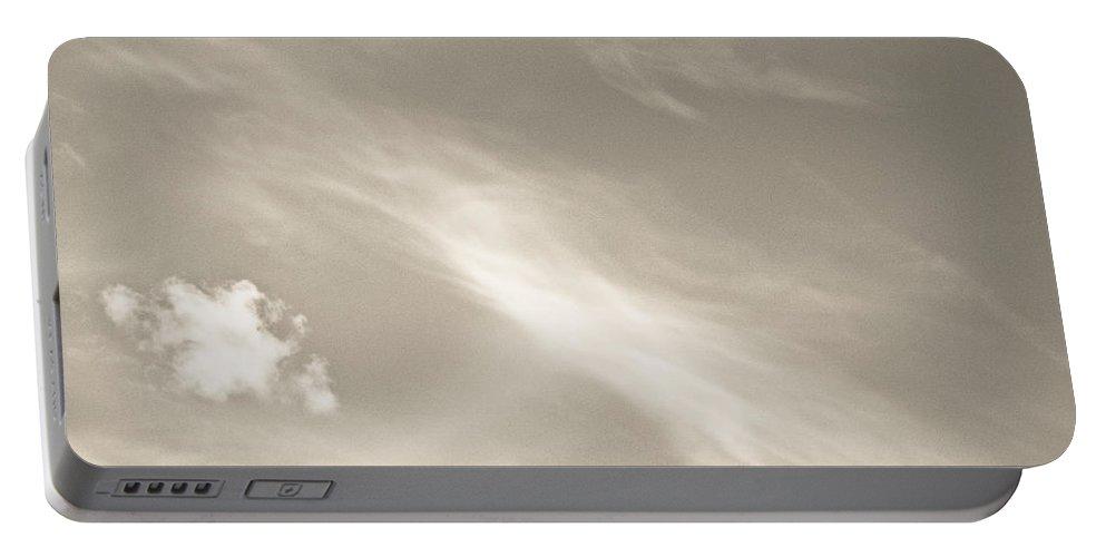 Clouds Portable Battery Charger featuring the photograph Creamy Clouds by David Pyatt