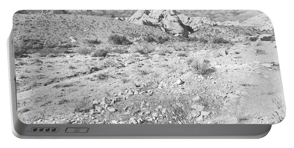 Pencil Portable Battery Charger featuring the photograph Desert Washout by Frank Wilson