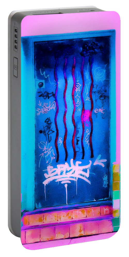 Door Portable Battery Charger featuring the photograph Doors Of Oaxaca by Terry Fiala