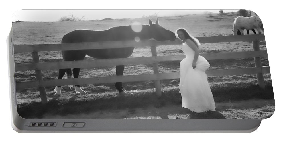 White Portable Battery Charger featuring the photograph Dress 32 by Betsy Knapp