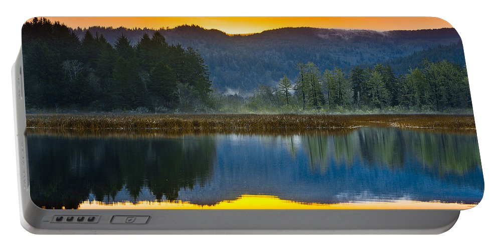 Dry Lagoon Portable Battery Charger featuring the photograph Dry Lagoon Dawn by Greg Nyquist