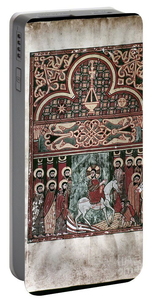 1420 Portable Battery Charger featuring the photograph Entry Into Jerusalem by Granger
