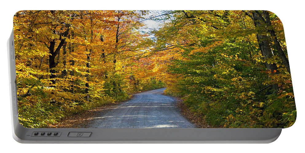 Maine Portable Battery Charger featuring the photograph Fall In New England by Glenn Gordon