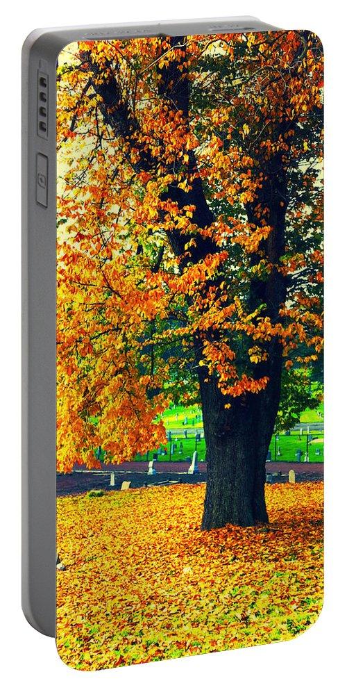 Autumn Portable Battery Charger featuring the photograph Fall by Priscilla De Mesa