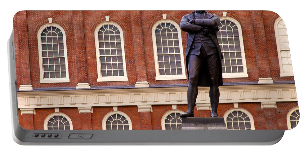 Statue Portable Battery Charger featuring the photograph Faneuil Hall by Brian Jannsen