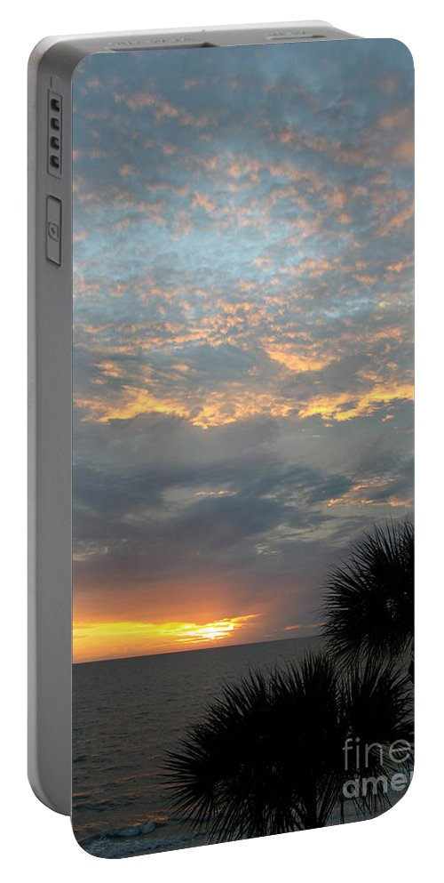 Fiery Sky Portable Battery Charger featuring the photograph Fiery Sky by Christiane Schulze Art And Photography