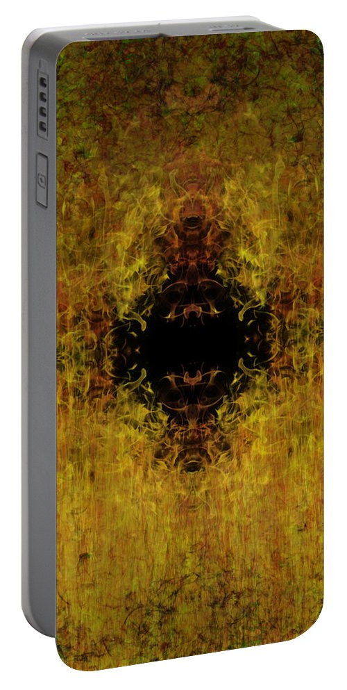 Fire Portable Battery Charger featuring the painting Fire by Christopher Gaston
