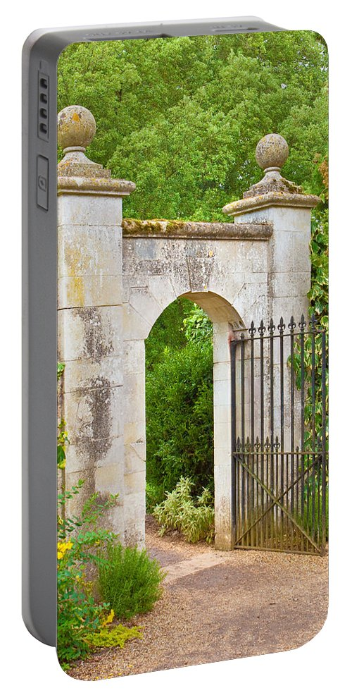 Access Portable Battery Charger featuring the photograph Gate by Tom Gowanlock