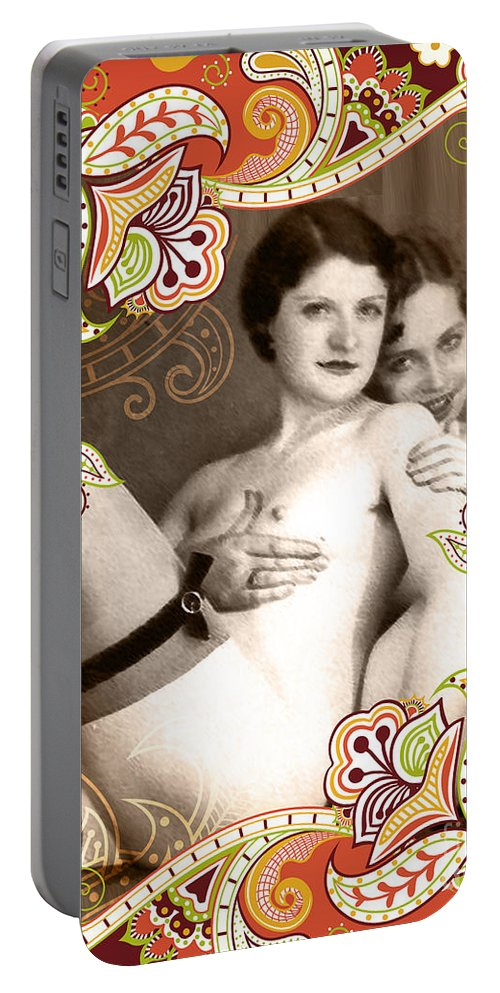 Nostalgic Seduction Portable Battery Charger featuring the photograph Goddesses by Chris Andruskiewicz