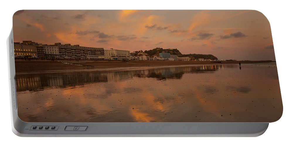 Beach Portable Battery Charger featuring the photograph Hastings Sunset by Dawn OConnor