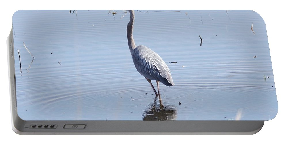 Heron Portable Battery Charger featuring the photograph Heron by Lori Tordsen