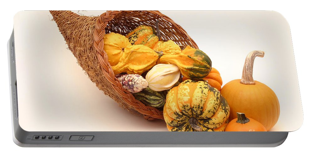 Fall Harvest Portable Battery Charger featuring the photograph Horn Of Plenty by Ted Kinsman