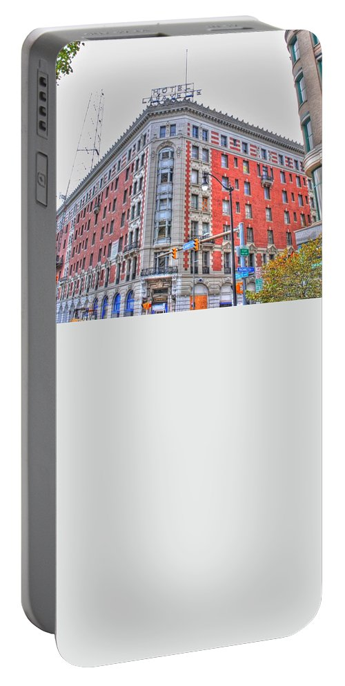 Portable Battery Charger featuring the photograph Hotel Lafayette by Michael Frank Jr