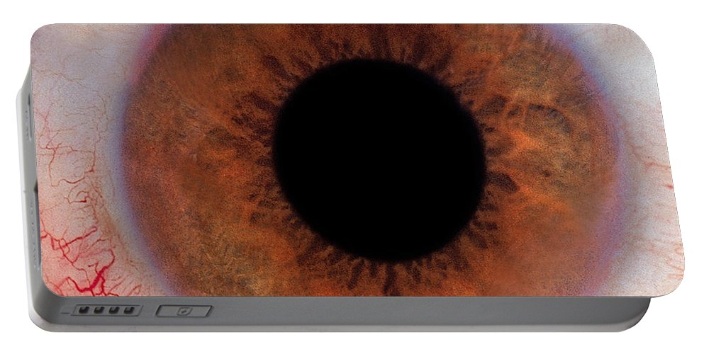 Eye Portable Battery Charger featuring the photograph Human Eye by Raul Gonzalez Perez