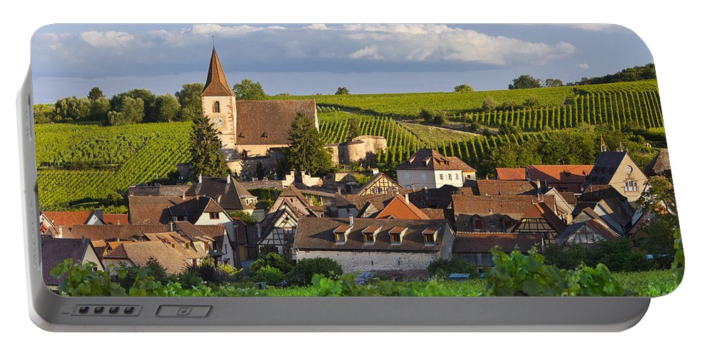 Alsace Portable Battery Charger featuring the photograph Hunawihr Alsace by Brian Jannsen