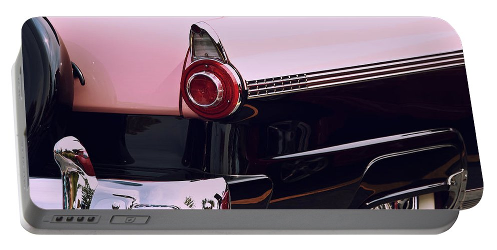 Classic Car Portable Battery Charger featuring the photograph In The Pink by Lauri Novak