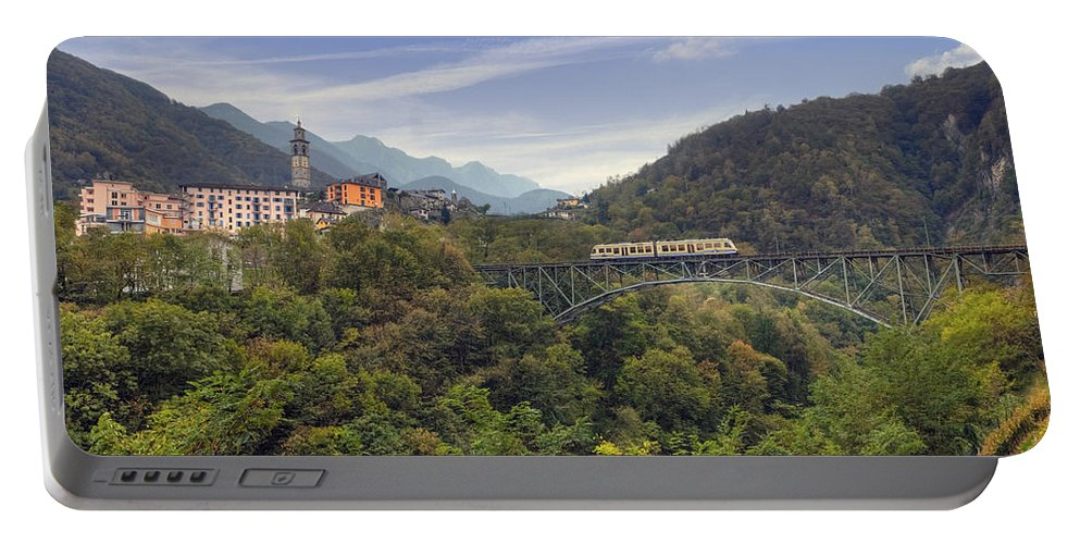 Intragna Portable Battery Charger featuring the photograph Intragna - Ticino by Joana Kruse
