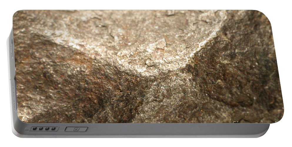 Meteor Portable Battery Charger featuring the photograph Iron-nickel Meteorite by Ted Kinsman