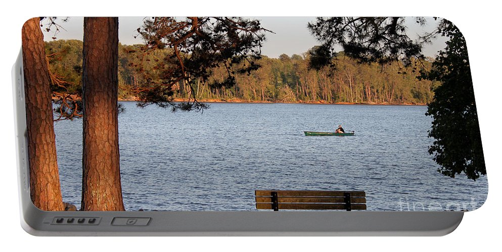 Seascape Portable Battery Charger featuring the photograph Lakeside by Todd Blanchard