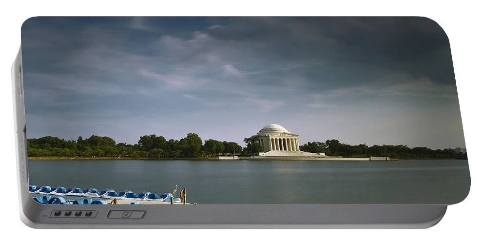 Washington Dc Portable Battery Charger featuring the photograph Late Afternoon Sun As The Heron Waits by Edward Kreis