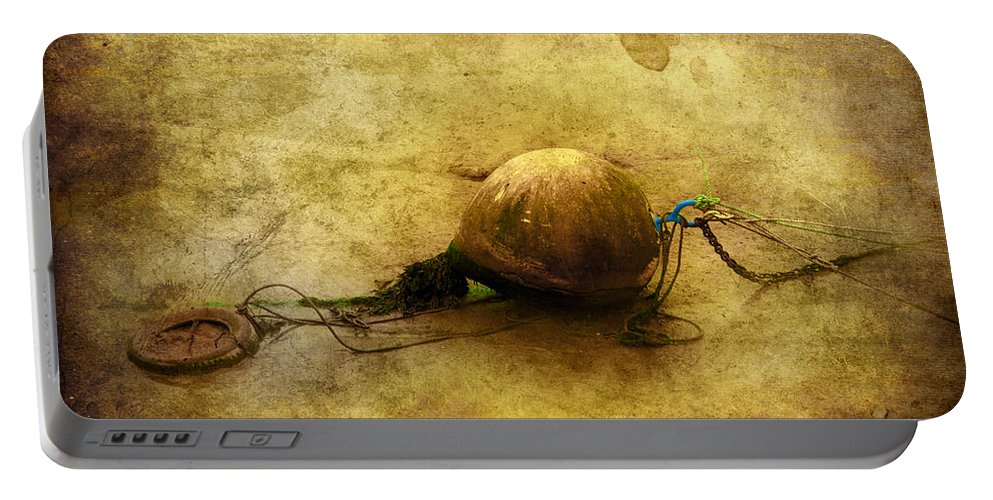 Anchored Portable Battery Charger featuring the digital art Left Behind by Svetlana Sewell