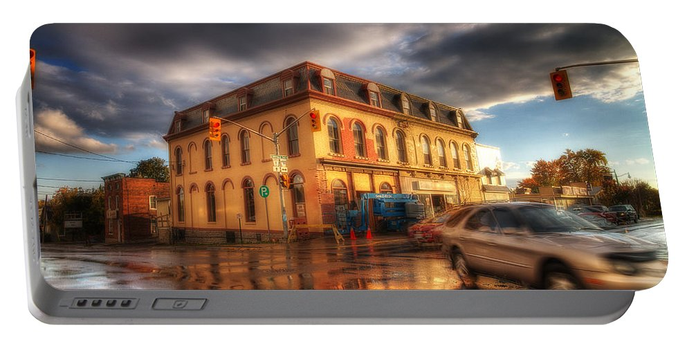Acrylic Prints Portable Battery Charger featuring the photograph Left Turn In The Rain by John Herzog