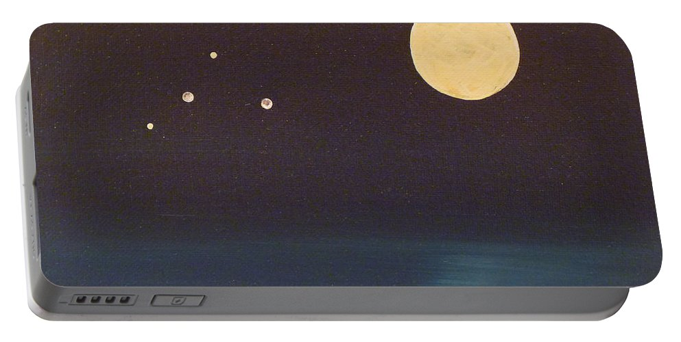 Libra Portable Battery Charger featuring the painting Libra by Alys Caviness-Gober