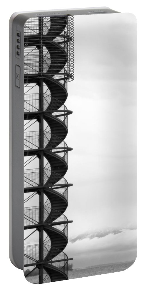 Stairs Portable Battery Charger featuring the photograph Look Out by Joana Kruse