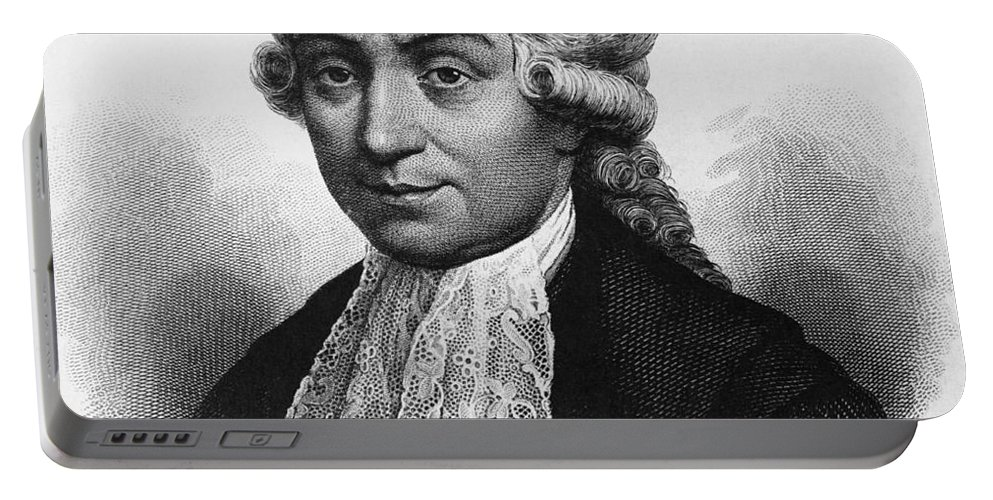 Science Portable Battery Charger featuring the photograph Luigi Galvani, Italian Physician by Omikron