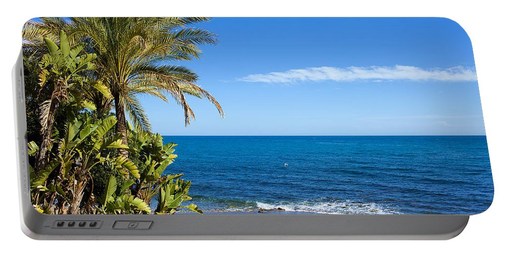 Beach Portable Battery Charger featuring the photograph Marbella Beach In Spain by Artur Bogacki