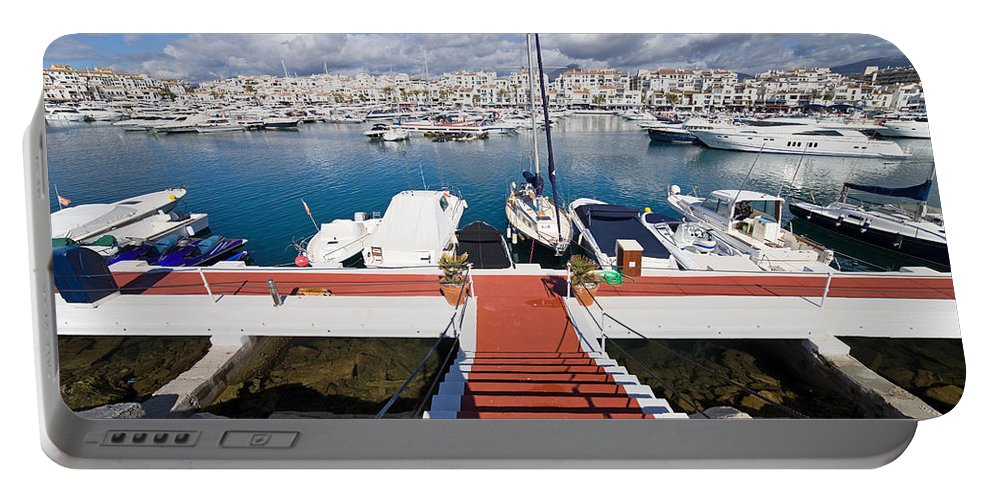 Marbella Portable Battery Charger featuring the photograph Marina In Puerto Banus by Artur Bogacki
