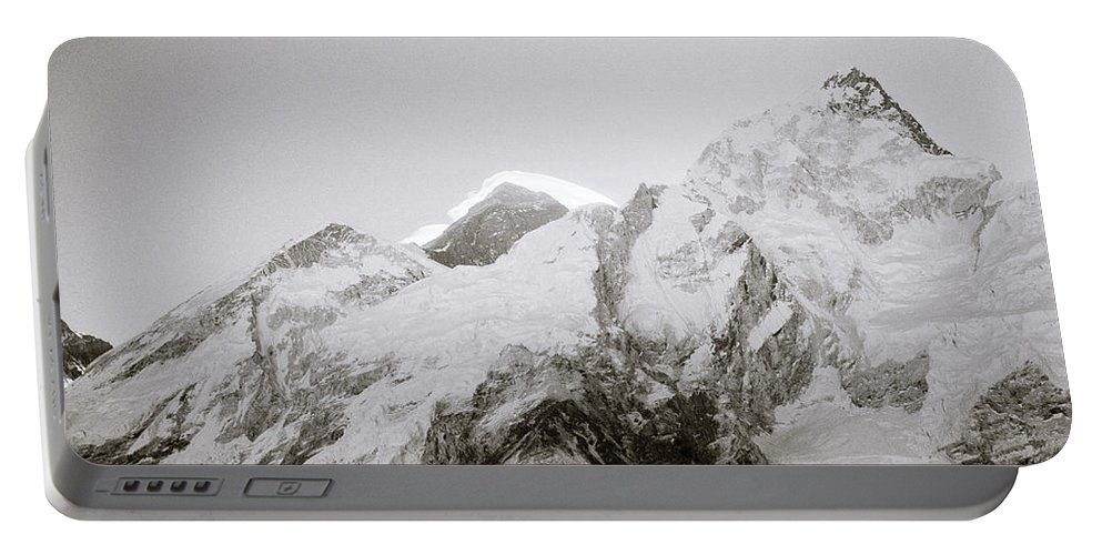 Mount Everest Portable Battery Charger featuring the photograph Mount Everest by Shaun Higson